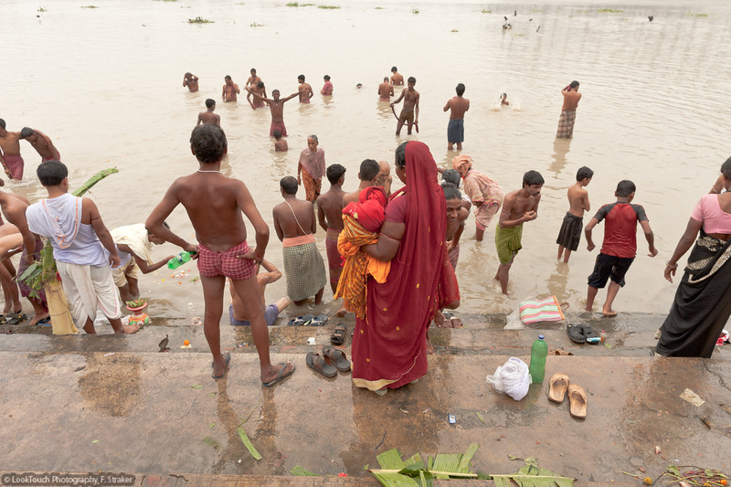Dipping in the Ganga