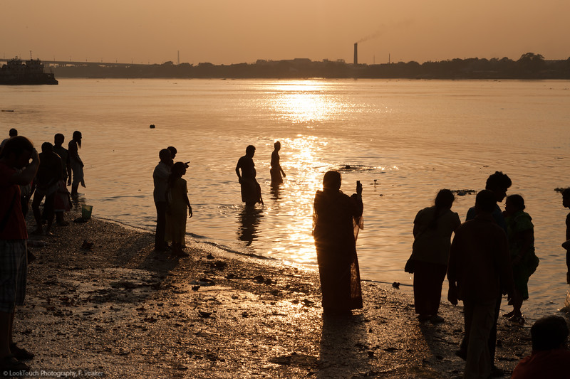Sunset at Ganges river