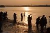 Sunset at Ganges river