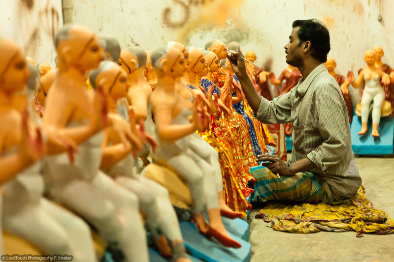 Painting the idols