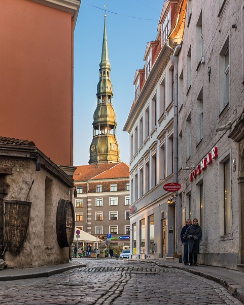 Charming old streets, Riga