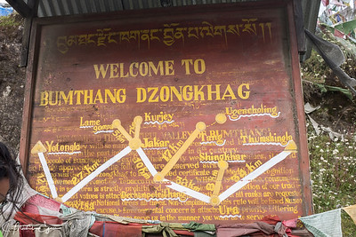 Entering the Bumthang District