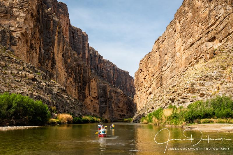 Santa Elena Canyon Canoeing