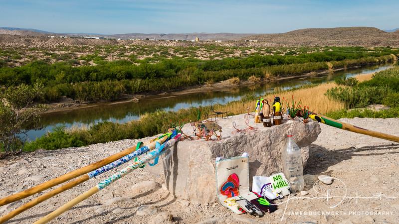 View of Boguillas del Carmen, Mexico from the U.S. side.