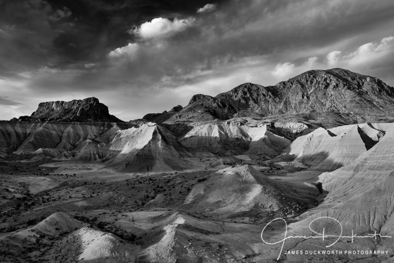 Terlinqua Badlands Monochrome