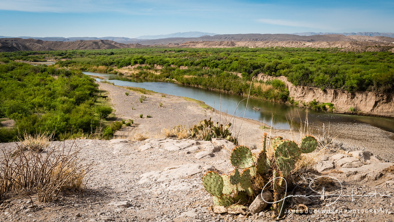 View of Rio Grande River looking towards Mexico.