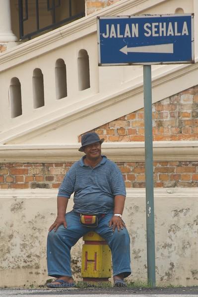 Kuala Lumpur, Malaysia.  Street scene