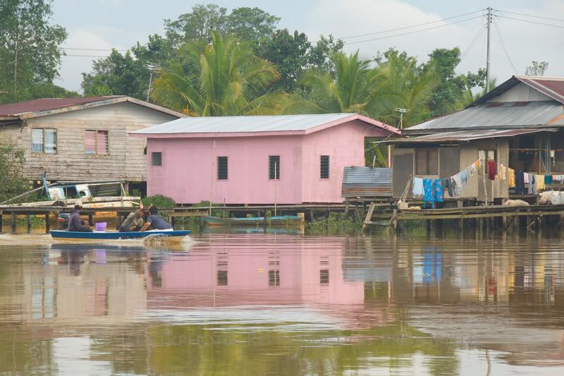A river village in Weston (Sabah) Malaysia.
