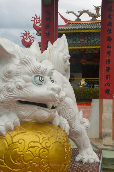 """Guard Dog"" from the Chinese Buddhist Temple in Kota Kinabalu."