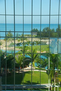 Brunei - Empire Hotel Resort and Golf Club (from inside the glass windowed lobby)