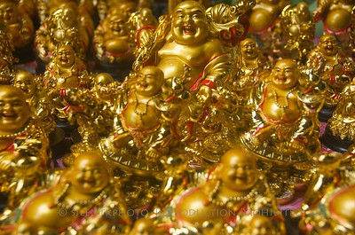 Buddha figurines at the Batu Caves in Kuala Lumpur.