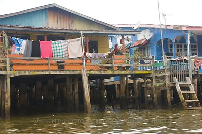 Brunei - river shanty-towns.