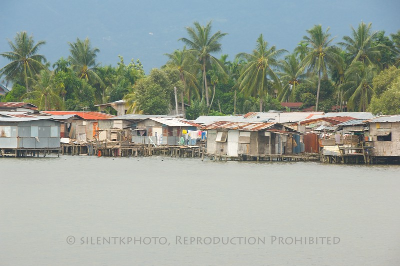 River community near Kota Kinabalu, Malaysia.