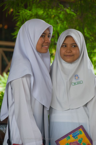 Kuala Lumpur, Malaysia.   Muslim school girls.