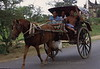 Horse drawn transportation - more common than you think. Burma.