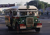 Common transportation in downtown Yangon, pre WWII bus.