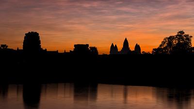 Sunrise at Angkor Wat, Siem Reap, Cambodia - 2015