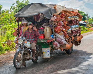 Bicycle Vendor near Siem Reap, Cambodia - 2015
