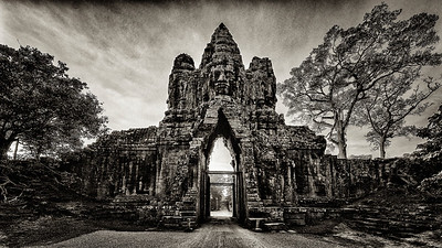 South Gate of Angkor Thom, Siem Reap, Cambodia - 2015