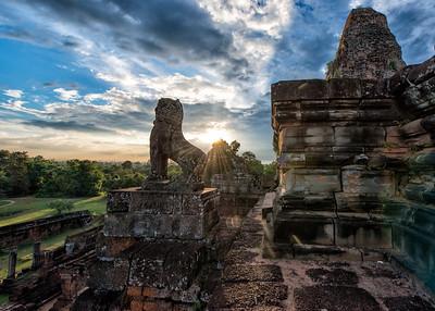 Sunset at Prae Roup, Siem Reap, Cambodia - 2015