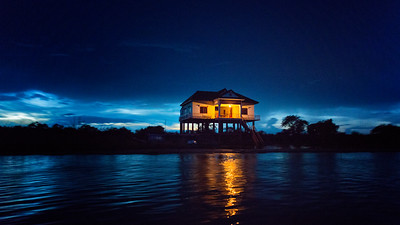 Stilt House Near Lake Tonlé Sap, Cambodia - 2015