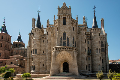 The Episcopal Palace in Astorga by Gaudi, on the Camino Santiago
