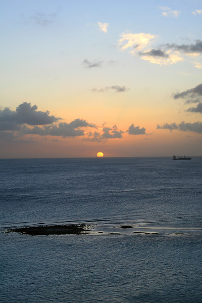 <h3><center>Sunset from Aruba</h3>