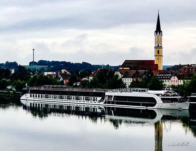 Amalea docked, Danube River