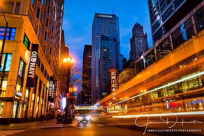Chicago Theatre Light Trails