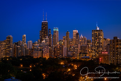 Chicago Skyline from Lincoln Park Blue Hour