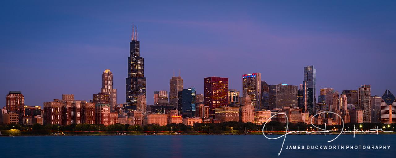 Chicago Skyline Close