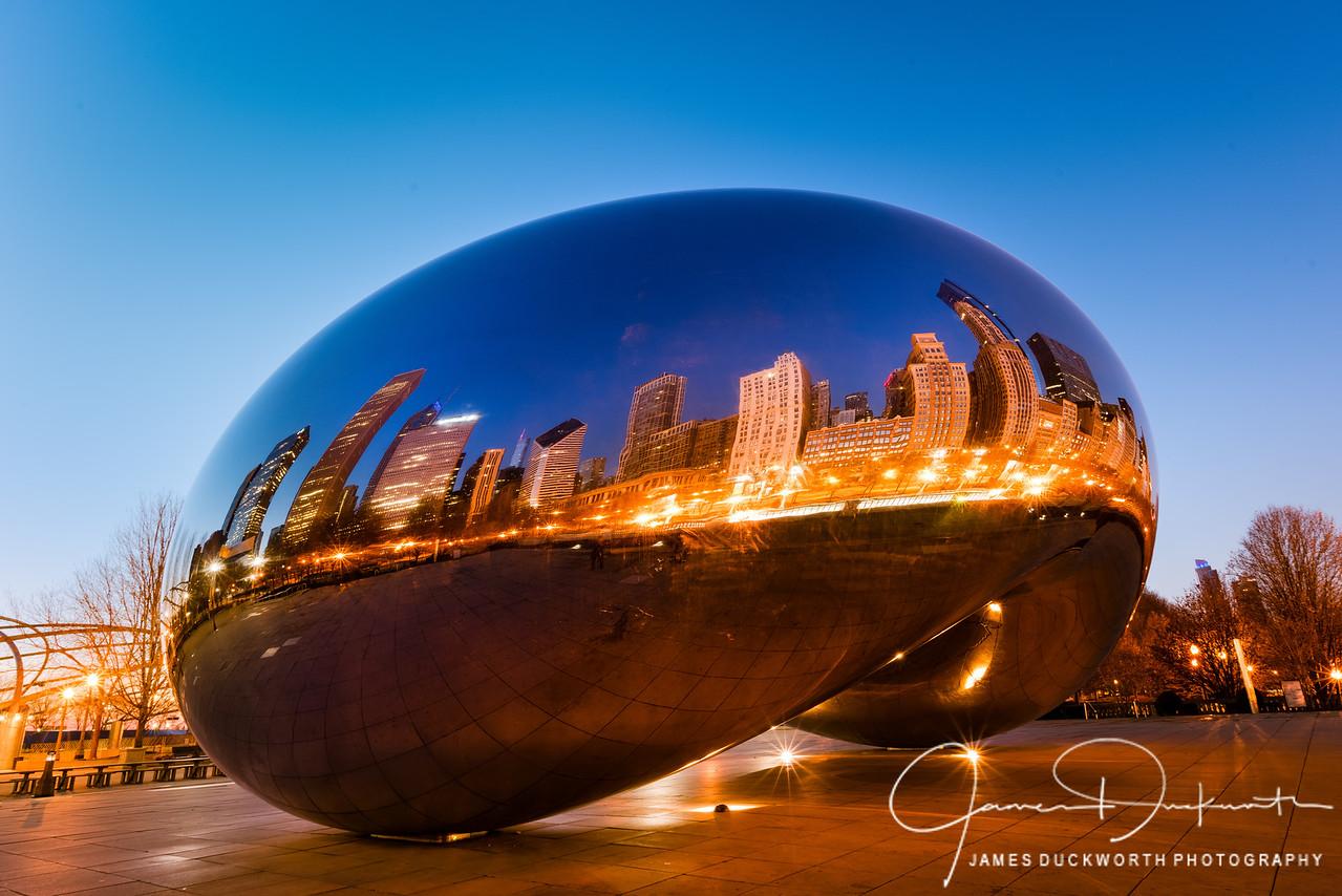 Chicago's Bean at Sunrise