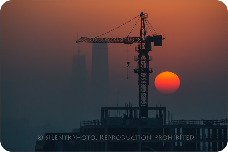 Beijing Sunrise - view from RC Hotel