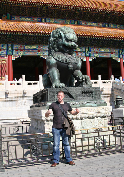 Martijn acting the emperor at the Forbidden City