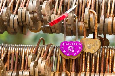 Lover's Locks at Mt Qingcheng, China - 2018