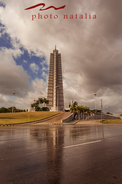 Monumento Jose Marti - In the back are the main Cuban government administrative offices.