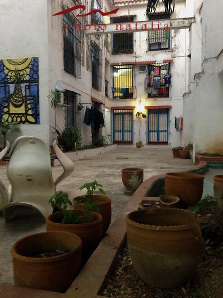 Courtyard in the Fototeca buidling.