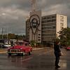 Cuban Hero, Camilo Cienfuegos - Edificio de la Informatica y la Comunicacion en la Plaza de la Revolucion.