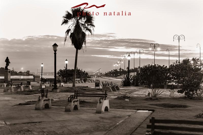 El malecon en la bahia de la Habana