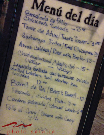 Nice menu - I don't know where the food came from since I didn't see farms etc.