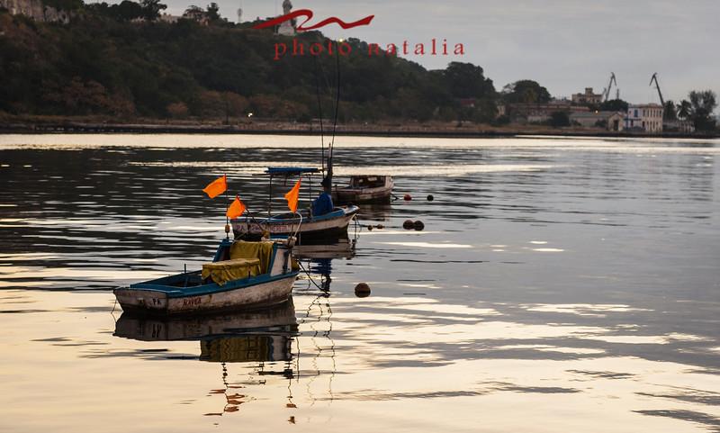Fisherman's boats in Habana Bay.