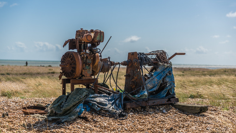 Some more rusty machinery, probably was covered but not anymore. Really creeps me up this place.