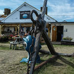 The anchor in front of the The Pilot restaurant. I was so tired at that point, and wanted to have my lunch.