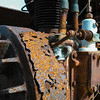 Rusty metal in a machine.