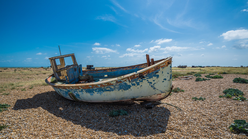Another blue broken boat.