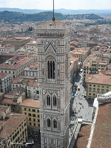 The climb up the cupola was worth it for the great views on Florence's landscapes.