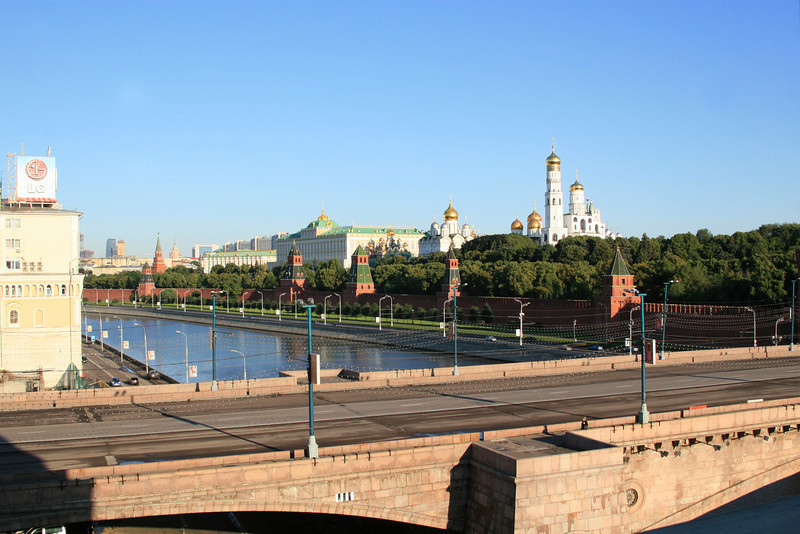 Kremlin and the Moscow River (view from our room)