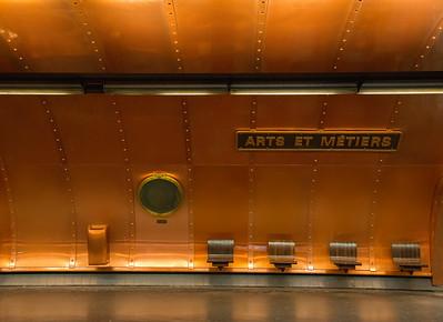 Arts et Métiers Metro Station, Paris, France - 2015