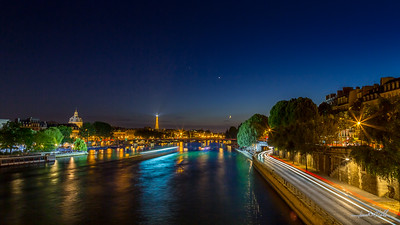 Seine river at midnight