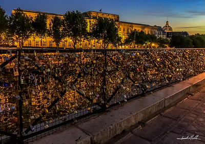 "Paris ""Love locks"" on the Seine River"